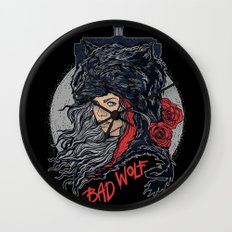 Bad Wolf Wall Clock