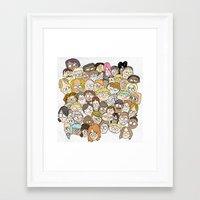 it crowd Framed Art Prints featuring Crowd by cmdonodraws