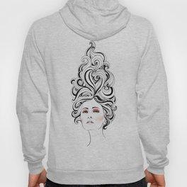 Swirl Girl Art Print Hoody
