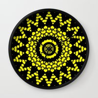 compass Wall Clocks featuring Compass by Mr. Pattern Man