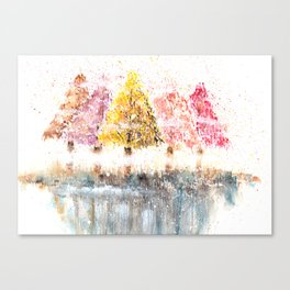 Watercolor Little Forest Illustration Canvas Print