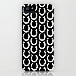 White Horseshoes iPhone Case