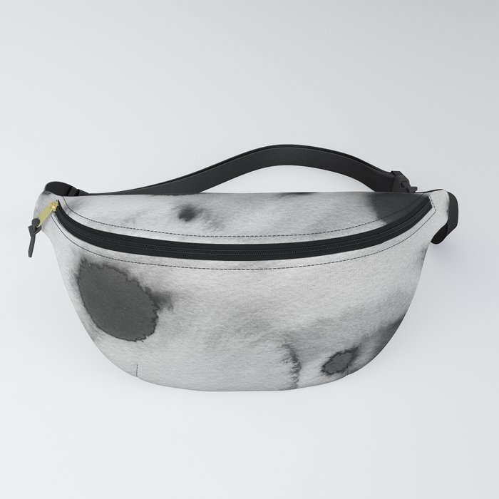 Black ink holes - in a watercolor based universe III Fanny Pack