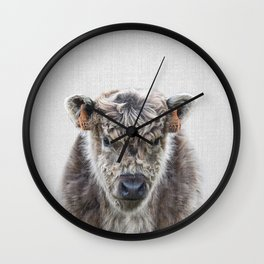 Fluffy Cow - Colorful Wall Clock