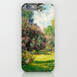 Monet - The Parc Monceau iPhone Case