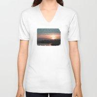 flight V-neck T-shirts featuring Flight by Last Call