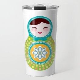 babushka doll matryoshka Travel Mug