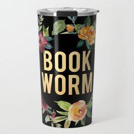 Autumn Bookworm - Black Travel Mug