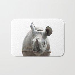 Baby Rhino, Baby Animals Art Print By Synplus Bath Mat