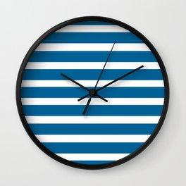 Blue Lines Wall Clock