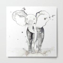 aquarela Elefante Metal Print