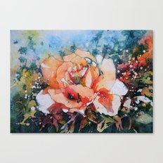 Everythings Peachy . . . Batik Peach Rose Canvas Print
