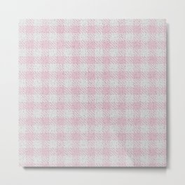 Pink Buffalo Plaid Metal Print