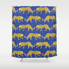The New Animal Print - Blue Shower Curtain