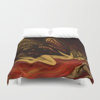 moth Duvet Covers featuring Moth by bravinto
