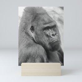 Western lowland gorilla Mini Art Print