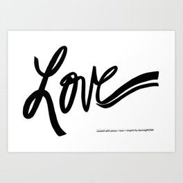 made with love Art Print