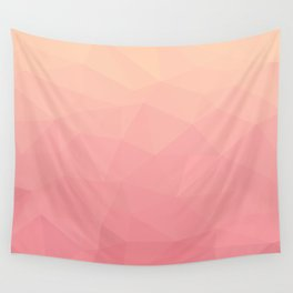 salmon pink polygon Wall Tapestry