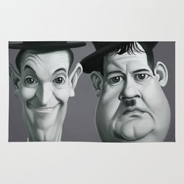 Laurel and Hardy Rug