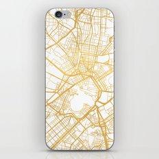 ATHENS GREECE CITY STREET MAP ART iPhone & iPod Skin