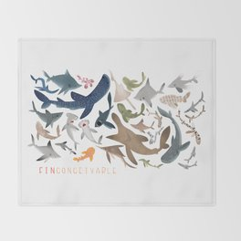 "FINconceivable Still ""Sharks"" Throw Blanket"