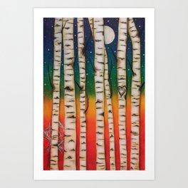 CHAKRA RAINBOW FOREST Art Print