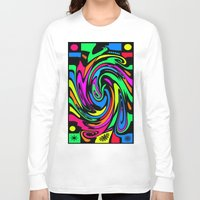 psychedelic Long Sleeve T-shirts featuring Psychedelic by Michael P. Moriarty