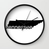 tennessee Wall Clocks featuring Tennessee by Isabel Moreno-Garcia