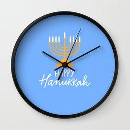 Hanukkah candles blue Wall Clock