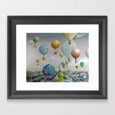 Ballooning over everywhere: Paris Framed Art Print