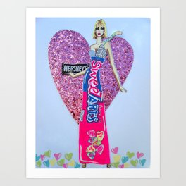 Sweettarts For My Sweetheart - Bright Colors Art Print