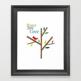Peace Joy Love Framed Art Print