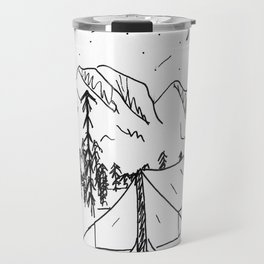 Starlight Sky, Night Camping Travel Mug