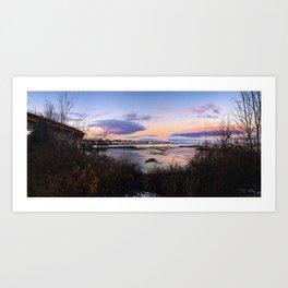 Sunset Panorama of the Portland, Maine Skyline Art Print