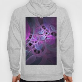 Luminous Abstract Fractal Art Pink And Blue Hoody