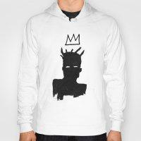basquiat Hoodies featuring KING BASQUIAT by Lucas Schievenin