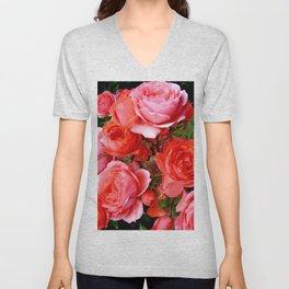 Red Roses Unisex V-Neck