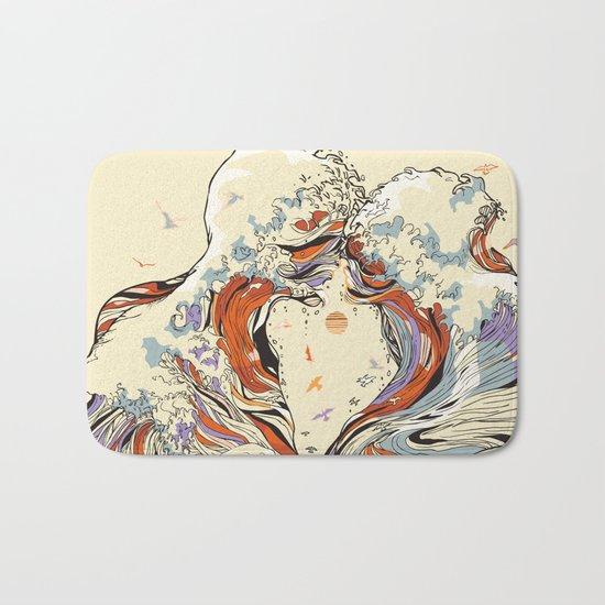 The Wave of Love Bath Mat