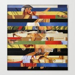 Glitch Pin-Up Redux: Jessica Canvas Print