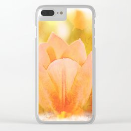 Beautiful orange tulips Clear iPhone Case