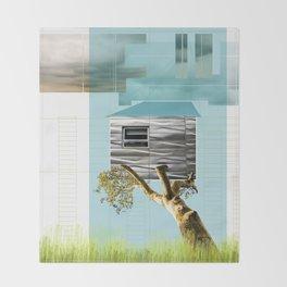 Urban Tree House Throw Blanket