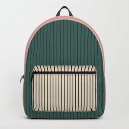 Color Block Lines Abstract V Backpack
