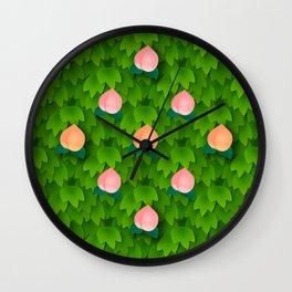 Fruit Harvest - Peach Wall Clock