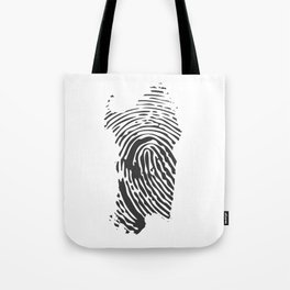 Sardinian fingerprint Tote Bag