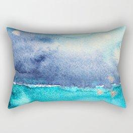 Vibrant horizon || watercolor Rectangular Pillow