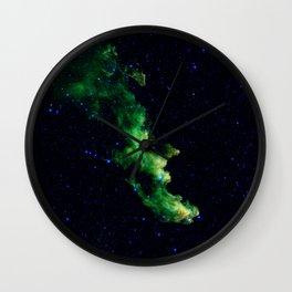 Galaxy: Green Witch's Head Nebula Wall Clock