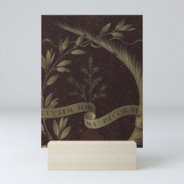 "Leonardo Da Vinci ""Wreath of Laurel, Palm, and Juniper with a Scroll inscribed Virtutem Forma Decor"" Mini Art Print"