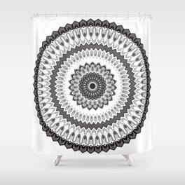Art Deco & Navajo Fusion Inspired Mandala Shower Curtain