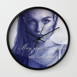 A song to the mountains Wall Clock