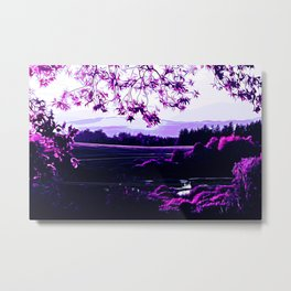 idyllic nature landscape vadb Metal Print